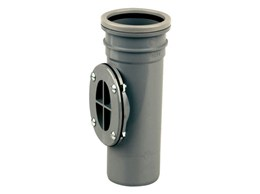 Cert PVC-U Bolted Access Pipe E 82 S/S - Soil access pipe