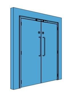 Double Metal Access Control Door