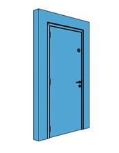 Single Metal Office Store Door