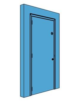Single Metal Plant Room Door