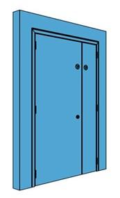 Unequal Metal Plant Room Door