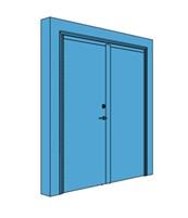 Double Metal Certified Security Door