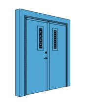 Double Metal Certified Security Door with Vision Panel