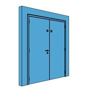Double Metal Comms Door