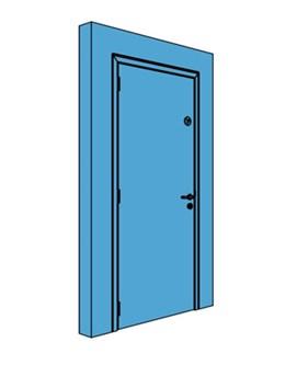 Single Metal Comms Door