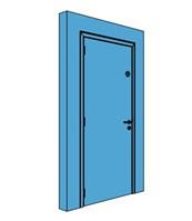 Single Metal Thermo Insulating U-Value Door