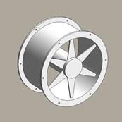 Duct mounted axial fan