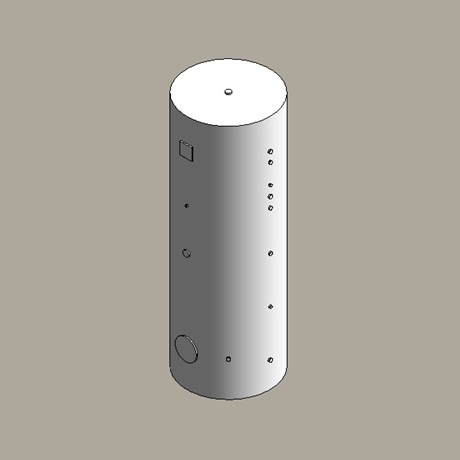 Dual coil hot water storage cylinder