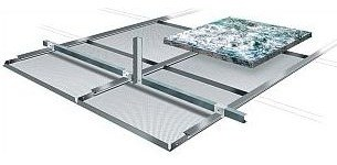 Clip-in TypeA-Plain 1500 x 300 mm - Suspended metal ceiling