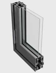 BSF70 Folding Door System - 3 Panel [Curtain Wall Placement]