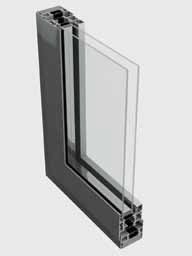 58BD Single Residential Entrance Door System [Curtain Wall Placement]