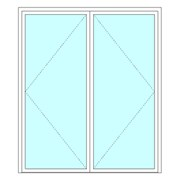 Equal double leaf door