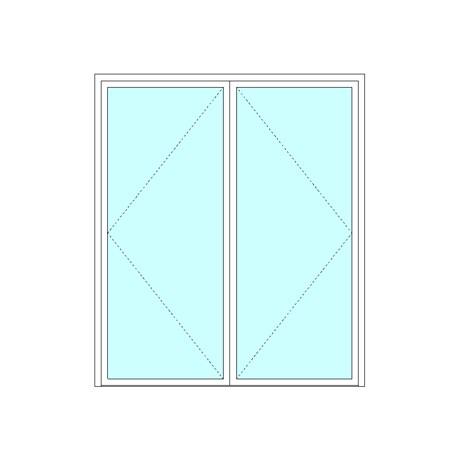 Equal double leaf door
