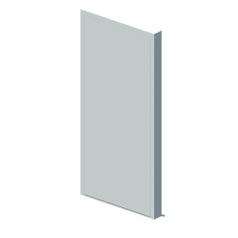 External blank single leaf door