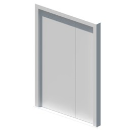 External blank unequal double leaf door