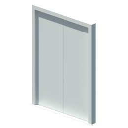 External equal double leaf door