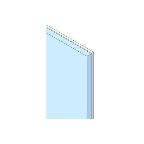 Laminated ceramic coated glass panel