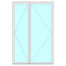Unequal double leaf door