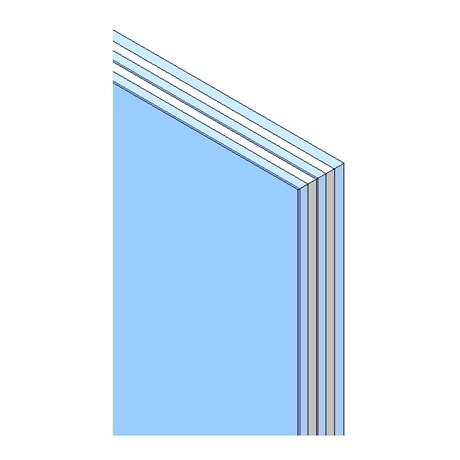 Triple pane insulated glass unit