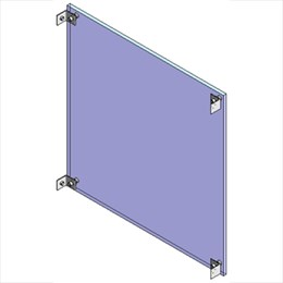 Structural glass wall system with projecting bolted fixings