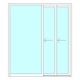 Single sliding telescopic door