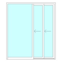 Single sliding telescopic door