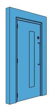 Single Metal Corridor/Lobby Door with Vision Panel
