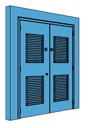 Double Metal Riser Door with Louvre