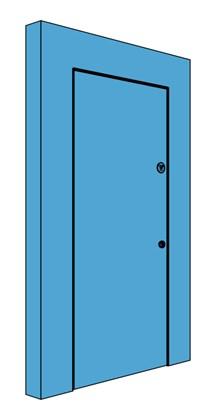 Single Hingeless Metal Riser Door