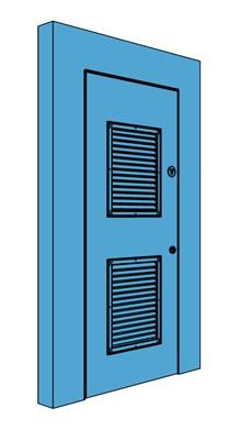 Single Hingeless Metal Riser Door with Louvre