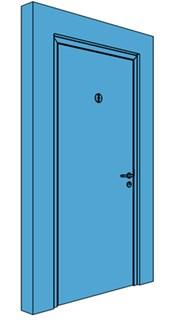 Single Metal Toilet Door