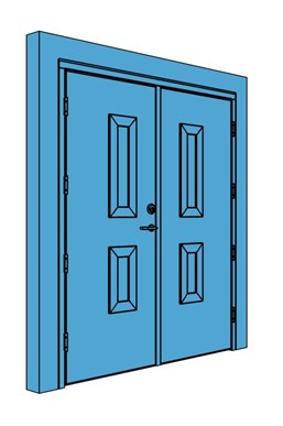 Double Timber Certified Security Door with Vision Panel