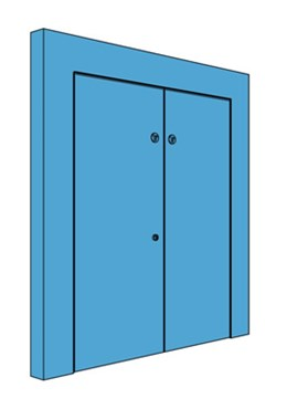 Double Hingeless Metal Riser Door