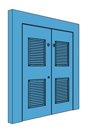 Double Hingeless Metal Riser Door with Louvre