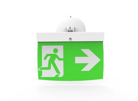 Addressable LED Emergency Lighting Exit Sign (20 m) EL-20 - For walls