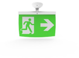 Addressable LED Emergency Lighting Exit Sign (40 m) EL-40 - For ceilings