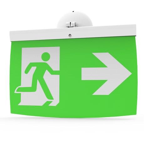 Addressable LED Emergency Lighting Exit Sign (40 m) EL-40 - For walls