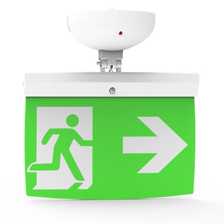 Addressable LED Emergency Lighting Exit Sign (20 m) EL-20 - For ceilings