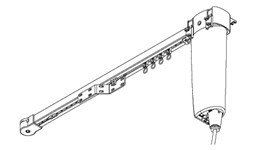 5400 Electric Curtain Track - Straight