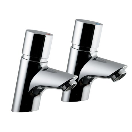Avon 21 Push Button Self-Closing Pillar Taps