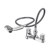 Alto Dual Control Two Hole Bath Shower Mixer
