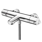 Ceratherm 100 Dual Control Two Hole Thermostatic Bath Shower Mixer