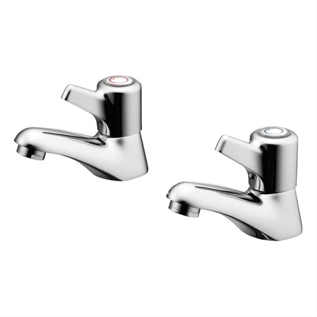 Elements Basin Pillar Taps With Lever Handles