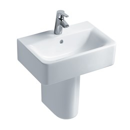 Concept Cube 55 cm Washbasin, short projection