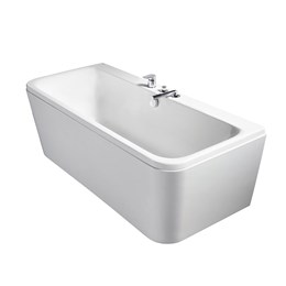 Tonic II 170 x 75 cm Peninsular D-shape Double Ended Idealform / Idealform Plus+ Baths
