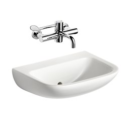Contour 21 - 50 cm Back Outlet Washbasin