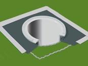 Radon Stop 400 Pipe Gasket Drain