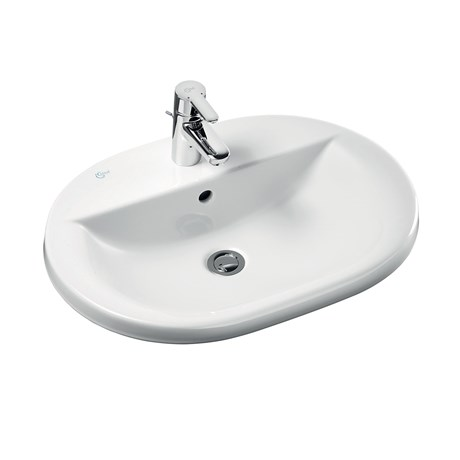 Concept Oval 62 cm Countertop Washbasin