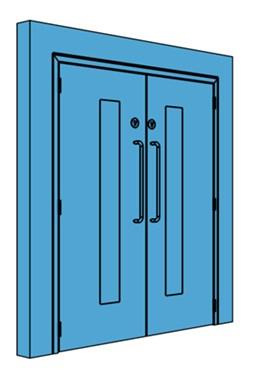 Double Metal Corridor/Lobby Door with Vision Panel