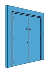 Double Metal Riser Door